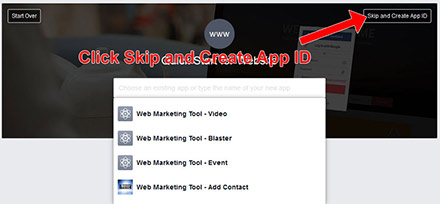 Facebook Setup App Step 3