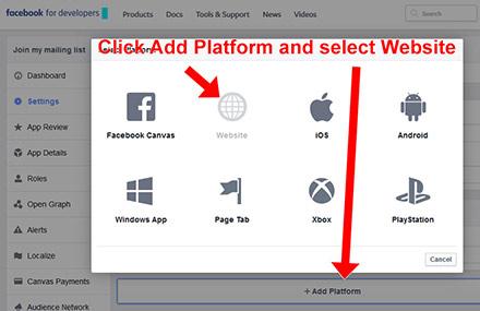Facebook Setup App Step 6