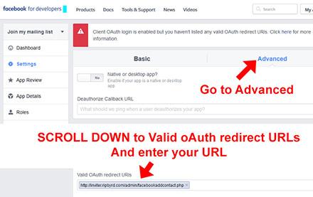 Facebook Setup App Step 7