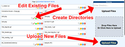 File Manager Edit/Upload Example