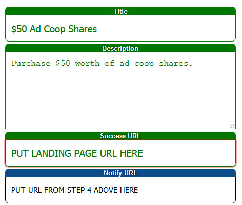 Ad Coop Setup with External Billing
