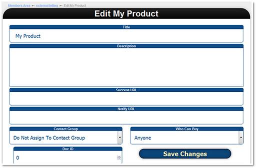 Edit Product Details