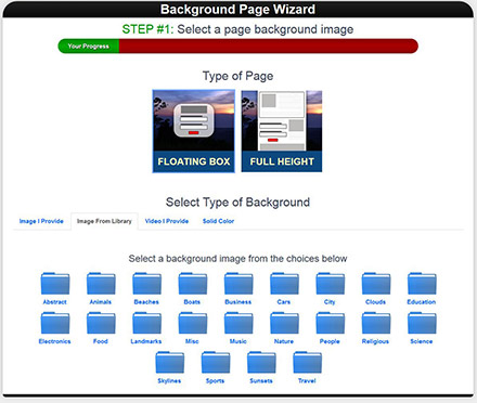 Page Wizard Example 1