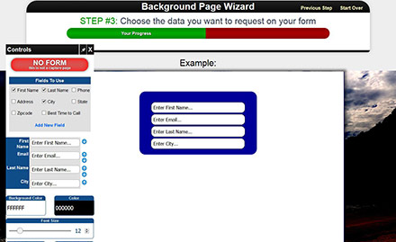 Page Wizard Example 2