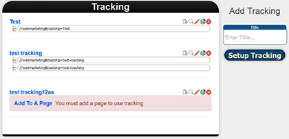 Tracking Results Page Screenshot
